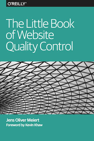 Cover: The Little Book of Website Quality Control.