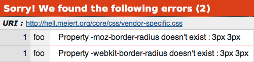 "Property ""-webkit-border-radius"" doesn't exist. Ha."