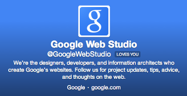 Google Web Studio on Twitter.