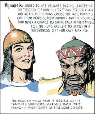 "Under Prince Valiant's daring leadership the ""Legion of Hun-Hunters"" has struck again and again…"