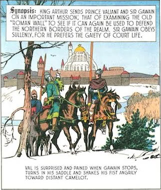 King Arthur sends Prince Valiant and Sir Gawain on an important mission.